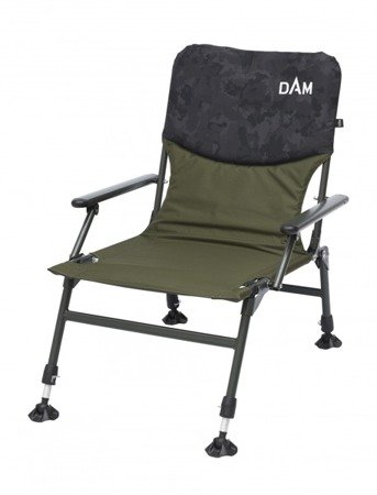 Fotel, krzesło DAM Camovision Compact Chair With Armrests Steel