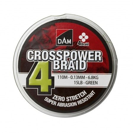 Plecionka DAM CROSSPOWER 4-BRAID 0.13MM/110M