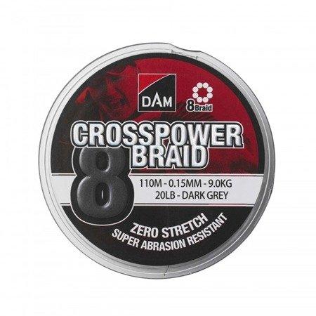 Plecionka DAM CROSSPOWER 8-BRAID 0.15MM/110M