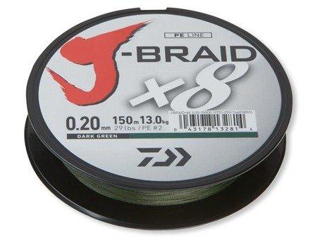 Plecionka Daiwa J-BRAID X8 0.22MM / 150M / DG