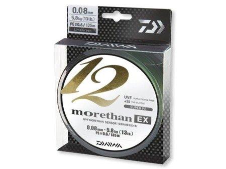 Plecionka Daiwa MORETHAN 12 BRAID EX+SI 0.14MM / 135M / LG