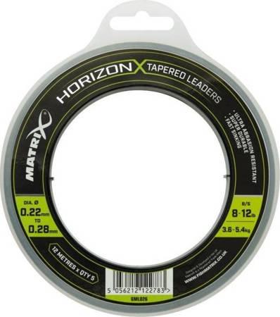 Żyłka strzałkowa Matrix Horizon X Tapered Shock Leader 12m 8lb/12lb